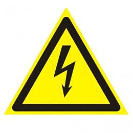 Знак предупреждающий Опасность поражения электрическим током, треугольник, 200х200х200 мм, 610007/W 08