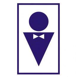 Знак вспомогательный Туалет мужской, прямоугольник, 120х190 мм, самоклейка, 610040/В 37