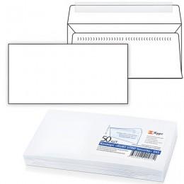 Конверт Е65, комплект 50 шт., отрывная полоса STRIP, белый,