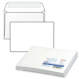 Конверт С5, комплект 50 шт., отрывная полоса STRIP, белый, 162х229 мм, 80 г/м2, С50.10.50С