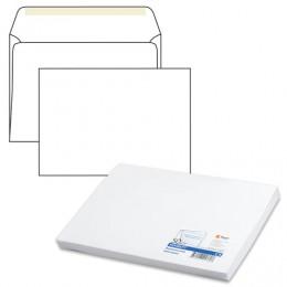 Конверт С4, комплект 50 шт., клей декстрин, белый, 90 г/м2, 229х324 мм, 160.50С