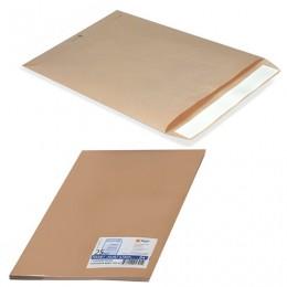 Конверт-пакет С5 плоский, комплект 25 шт., 162х229 мм, отрывная полоса, крафт-бумага, коричневый, на 90 листов, 357707.25