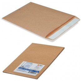 Конверт-пакеты В4 плоские (250х353 мм), до 140 листов, крафт-бумага, отрывная полоса, КОМПЛЕКТ 25 шт., 380090.25