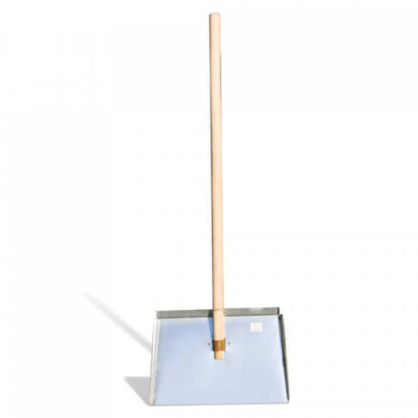 Лопата снегоуборочная, оцинкованная сталь, 46х30 см, высота 130 см, деревянный черенок, ЛО-3