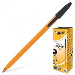 Ручка шариковая BIC Orange, ЧЕРНАЯ, корпус оранжевый, узел 0,8 мм, линия письма 0,3 мм, 8099231