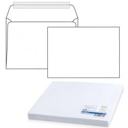 Конверт С4, комплект 50 шт, отрывная полоса STRIP, белый, плотный - 100 г/м2, 229х324 мм, 1657.50