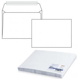 Конверт С4, комплект 50 шт., отрывная полоса STRIP, белый, 90 г/м2, 229х324 мм, С40.10.50С