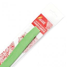 Бумага для квиллинга светло-зеленая, 125 полос, 3 мм х 300 мм, 130 г/м2, ОСТРОВ СОКРОВИЩ, 128763