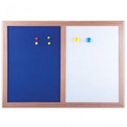 Доска магнитно-маркерная BRAUBERG, с текстильным покрытием, для объявлений А3, 342х484 мм, синяя/белая, ГАРАНТИЯ 10 ЛЕТ, 231995
