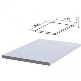 Крышка для тумбы приставной Монолит, 400х600х22 мм, серый, ТМ02.11