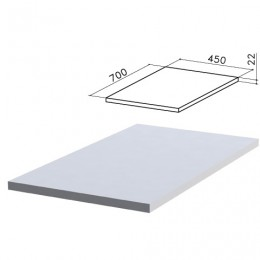 Крышка для тумбы приставной (код 640146, 640149) Монолит, 450х700х22 мм, серая, ТМ03.11