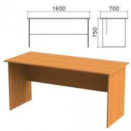 Стол письменный Фея, 1600х700х750 мм, цвет орех милан, СФ01.5