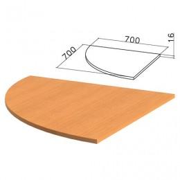 Стол приставной угловой Фея, 700х700х750 мм, БЕЗ ОПОРЫ (640072), орех милан, ПФ09.5
