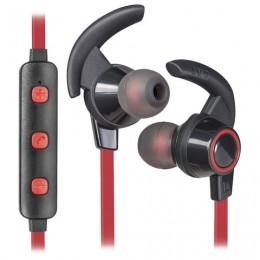 Наушники с микрофоном (гарнитура) DEFENDER OUTFIT B725, Bluetooth, беспроводные, черные с красным, 63726