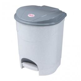 Ведро-контейнер 11 л, с крышкой и педалью, для мусора, 33х20х27 см, серое, IDEA, М2891