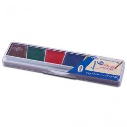 Краски акварельные ГАММА Лицей, 6 цветов, медовые, без кисти, пластиковая коробка, 212063