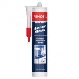 Герметик PENOSIL, силиконовый, санитарный, бесцветный, картридж под пистолет, объем 310 мл, Н1198