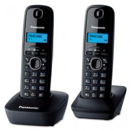 Радиотелефон PANASONIC KX-TG1612RUH + дополнительная трубка, память 50 номеров, АОН, будильник, серый