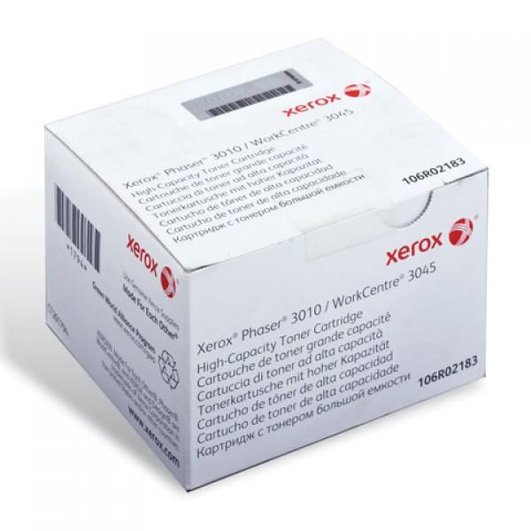 Картридж лазерный XEROX (106R02183) Phaser 3010/WC3045, оригинальный, черный, ресурс 2300 стр.