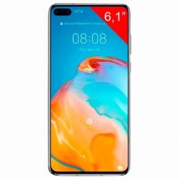 "Смартфон HUAWEI P40, 2 SIM, 6,1"", 4G (LTE), 50/32 + 16 + 8, 128 ГБ, серебристый, металл, 51095CAE"