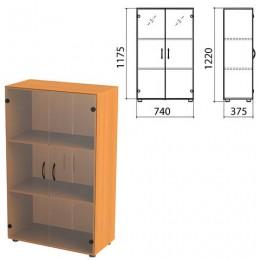 Шкаф закрытый со стеклом