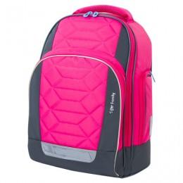 Рюкзак TIGER FAMILY школьный, Rainbow, с ортопедической спинкой, Pink Lemonade, 39х31х20 см, 228941, TGRW-012A