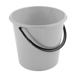 Ведро 12 л, без крышки, пластиковое, пищевое, цвет серый, мерная шкала, 4307400