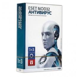 Антивирус ESET NOD32 +Bonus, 3 ПК, 1 год или продление на 20 месяцев, ENA-1220BOX-1-1