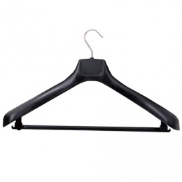 Вешалка-плечики, р. 50-52, анатомическая форма, широкие плечики, пластиковая, черная, С041
