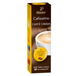 Капсулы для кофемашин Cafissimo TCHIBO Caffe Crema Mild, натуральный кофе, 10 шт. х 7 г, EPCFTCCM0007K