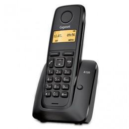 Радиотелефон GIGASET A120, память на 40 номеров, АОН, повтор, часы, радиус 10-100 м, цвет черный, S30852H2401S301
