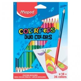 Карандаши двухцветные MAPED (Франция)