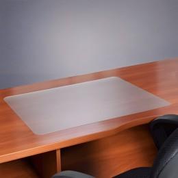 Коврик-подкладка настольный для письма, износостойкий, FLOORTEX, 48х61 см, толщина 0,9 мм, прозрачный, FPDE1924V