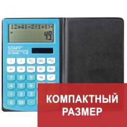 Калькулятор настольный двухстрочный STAFF PLUS DC-100NBL, КОМПАКТНЫЙ (147х106 мм), 10 разрядов, ШКОЛЬНЫЙ, ГОЛУБОЙ, 250429