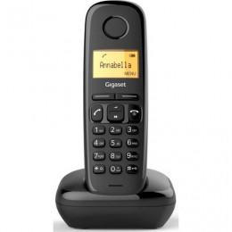 Радиотелефон GIGASET A170, память 50 номеров, АОН, повтор, часы, черный, S30852H2802S301