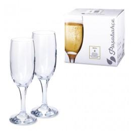 Набор фужеров Bistro для шампанского, 6 шт., 190 мл, стекло, PASABAHCE, 44419