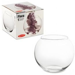 Ваза Flora, круглая, высота 10 см, стекло, PASABAHCE, 43417