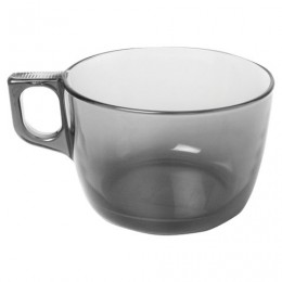 Кружка-супница, объем 500 мл, дымчатое стекло,