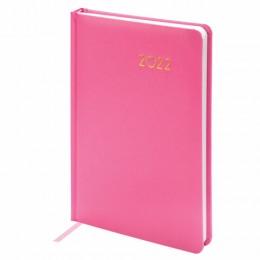 Ежедневник датированный 2022 А5 (138х213мм) BRAUBERG Select розовый, 112780
