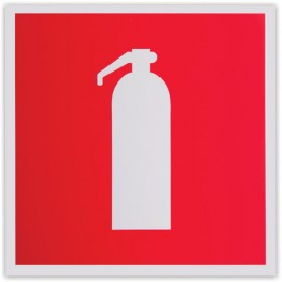Знак пожарной безопасности Огнетушитель, 200х200 мм, самоклейка, фотолюминесцентный, F 04
