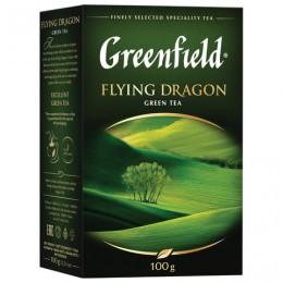 Чай GREENFIELD (Гринфилд) Flying Dragon, зеленый, листовой, 100 г, 0357