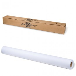 Рулон для плоттера, 610 мм х 30 м х втулка 50,8 мм, 160 г/м2, белизна CIE 161%, Heavyweight Coated AKZENT