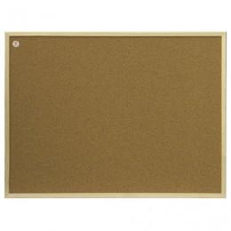 Доска пробковая 100x200 см, коричневая рамка из МДФ, OFFICE,