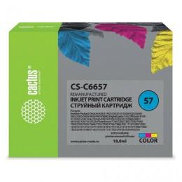 Картридж струйный CACTUS (CS-C6657) для HP Deskjet 5150/5550/5600/5850, цветной