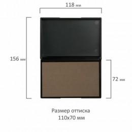 Штемпельная подушка GRM, 110х70 мм, универсальная, неокрашенная, для всех типов краски, 9052