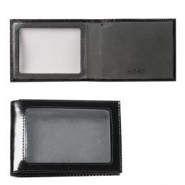 Обложка для удостоверения BEFLER Classic, натуральная кожа, с окном, черная, F.13.-1