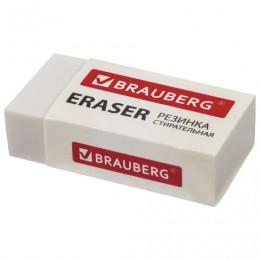 Ластик BRAUBERG Simple, 38х20х10 мм, бумажный рукав, термопластичная резина, 228073