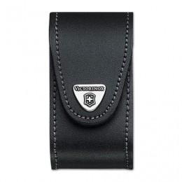 Подарочный чехол для ножей VICTORINOX «Champ», кожа, черный, на липучке, толщина 5-8 уровней, блистер, 4.0521.31