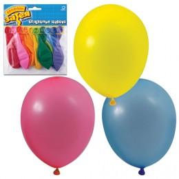 Шары воздушные 10 (25 см), комплект 10 шт., 10 пастельных цветов, в упаковке с европодвесом, 1111-0104