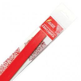 Бумага для квиллинга огненно-красная, 125 полос, 5х300 мм, 130 г/м2, ОСТРОВ СОКРОВИЩ, 128768